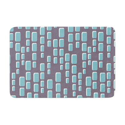 Michelle Drew Cubic Geek Chic Memory Foam Bath Rug