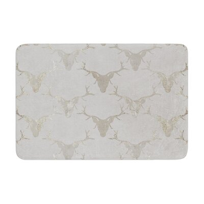Michelle Drew Gilded Stags Memory Foam Bath Rug