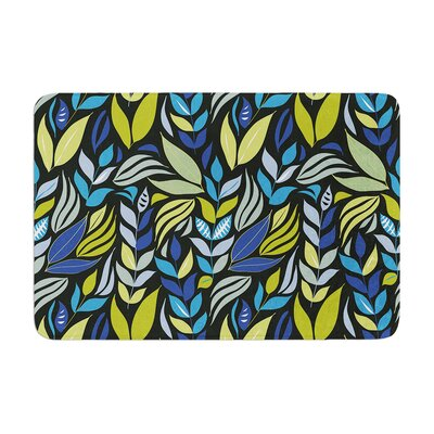 Michelle Drew Underwater Bouquet Night Memory Foam Bath Rug