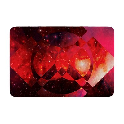 Matt Eklund Galactic Radiance Crimson Memory Foam Bath Rug Color: Red/Pink