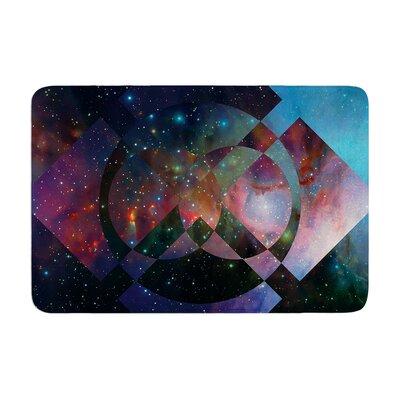 Matt Eklund Galactic Radiance Crimson Memory Foam Bath Rug Color: Blue/Purple