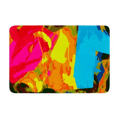 Matthias Hennig Colored Plastic Memory Foam Bath Rug