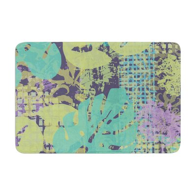 Chickaprint Verdure Collage Memory Foam Bath Rug