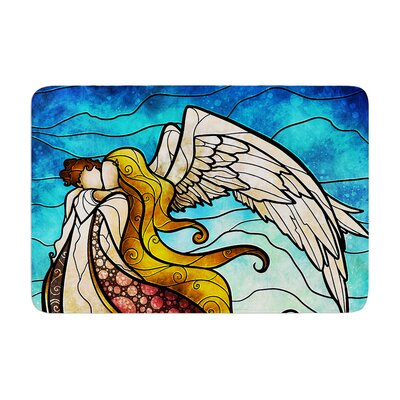 Mandie Manzano in the arms of the Angel Memory Foam Bath Rug