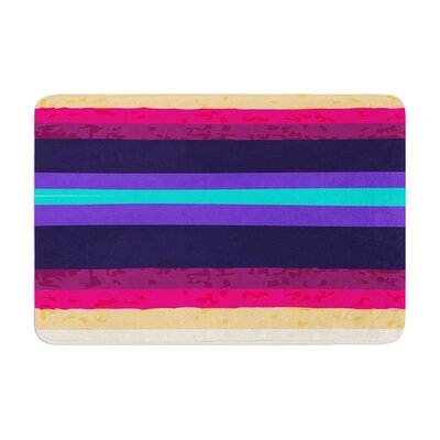 Nika Martinez Surf Stripes Memory Foam Bath Rug