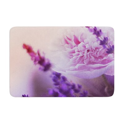 Monika Strigel Peony and Lavender Memory Foam Bath Rug