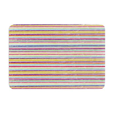 Nika Martinez Summer Stripes Abstract Memory Foam Bath Rug