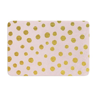 Nika Martinez Dots Memory Foam Bath Rug Color: Pink