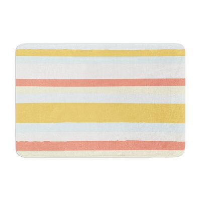 Nika Martinez Sand Stripes Memory Foam Bath Rug