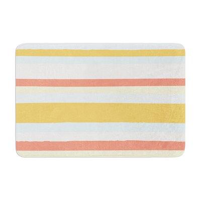 Nika Martinez Sand Stripes Memory Foam Bath Rug
