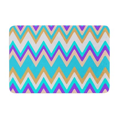 Nika Martinez Girly Surf Chevron Memory Foam Bath Rug