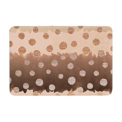 Nika Martinez Earth Dots Memory Foam Bath Rug
