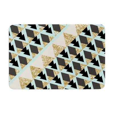 Nika Martinez Glitter Triangles Memory Foam Bath Rug