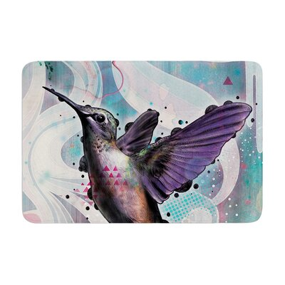 Mat Miller Reaching Hummingbird Memory Foam Bath Rug