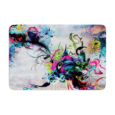 Mat Miller Streaming Eyes Abstract Memory Foam Bath Rug