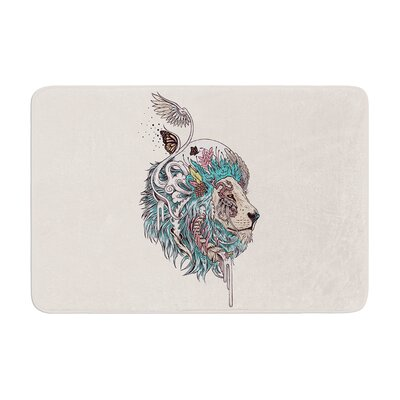 Mat Miller Unbound Autonomy Abstract Lion Memory Foam Bath Rug