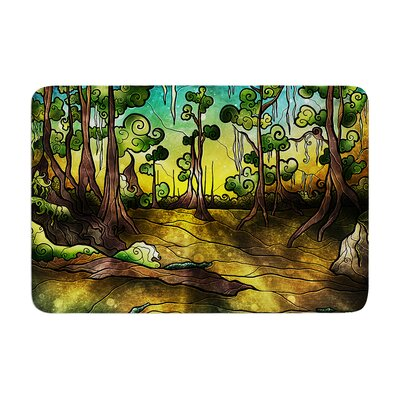 Mandie Manzano Alligator Swamp Memory Foam Bath Rug