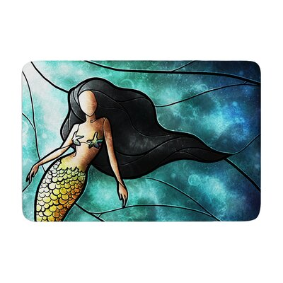 Mandie Manzano Mermaid Memory Foam Bath Rug