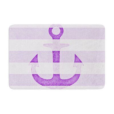 Monika Strigel Stone Vintage Anchor Memory Foam Bath Rug Color: Purple