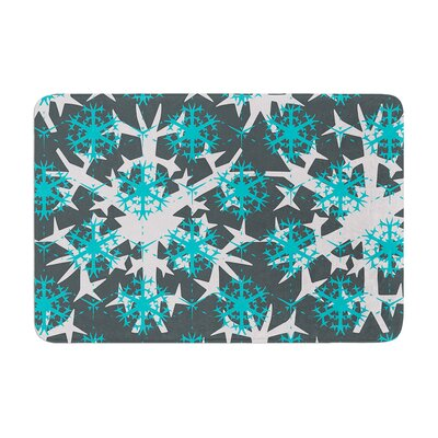 Miranda Mol Tree Snow Flakes Memory Foam Bath Rug