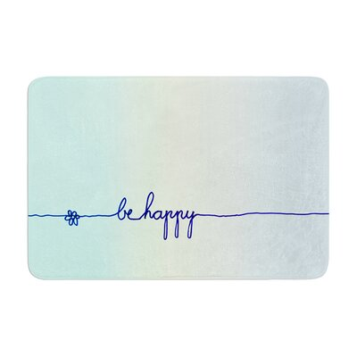 Monika Strigel Be Happy Simple Memory Foam Bath Rug