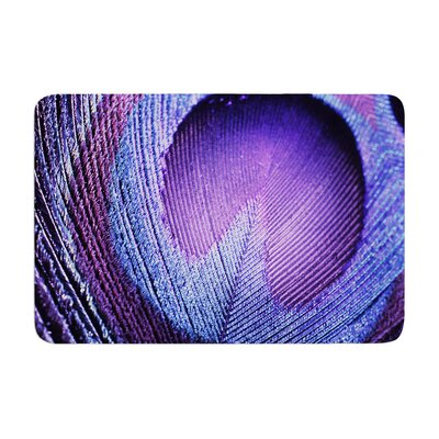 Monika Strigel Peacock Memory Foam Bath Rug