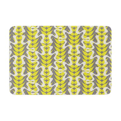 Miranda Mol Whirling Leaves Memory Foam Bath Rug