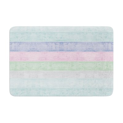 Monika Strigel Beach Wood Memory Foam Bath Rug Color: Pastel