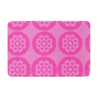Nicole Ketchum Moroccan Hot Memory Foam Bath Rug Color: Pink