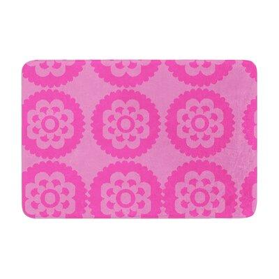 Nicole Ketchum Moroccan Hot Memory Foam Bath Rug Color: Pink