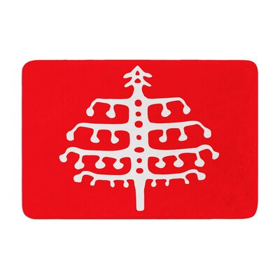 Miranda Mol Deco Tree Holiday Memory Foam Bath Rug