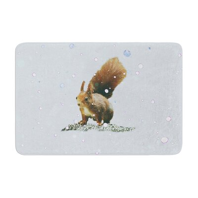 Monika Strigel Squirrel Memory Foam Bath Rug