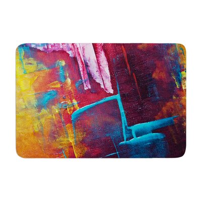 Malia Shields Cityscape Abstracts II Painting Memory Foam Bath Rug