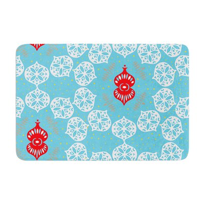Miranda Mol Frosted Holiday Memory Foam Bath Rug
