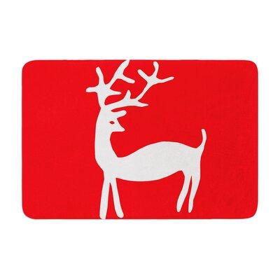 Miranda Mol Reindeer Holiday Memory Foam Bath Rug