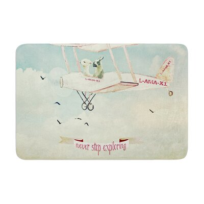 Monika Strigel Never Stop Exploring II Memory Foam Bath Rug