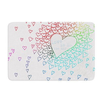 Monika Strigel Hearts Memory Foam Bath Rug