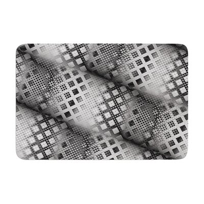 Michael Sussna Array Decay Checkered Memory Foam Bath Rug