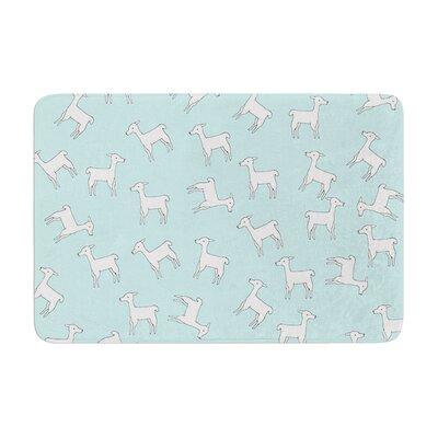 Monika Strigel Baby Llama Multi Memory Foam Bath Rug