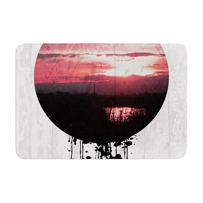 Micah Sager Valley Sunset Splatter Memory Foam Bath Rug