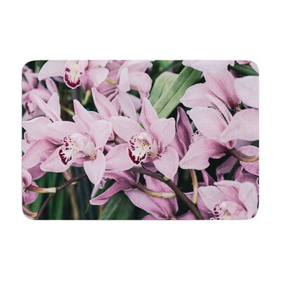 Nastasia Cook Lots of Orchids Memory Foam Bath Rug
