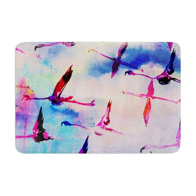 Nikki Strange Flamingo in Flight Memory Foam Bath Rug