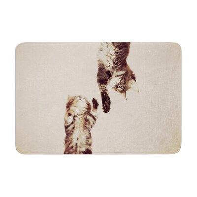 Monika Strigel Upside Down Cats Memory Foam Bath Rug