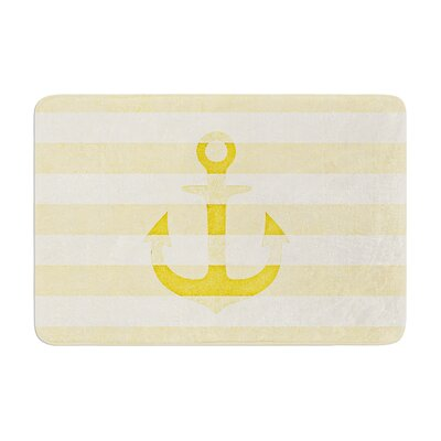 Monika Strigel Stone Vintage Anchor Memory Foam Bath Rug Color: Yellow