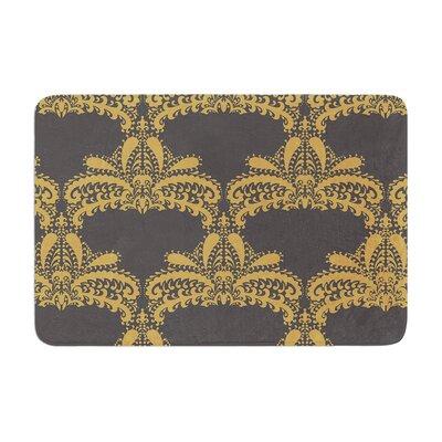 Nandita Singh Decorative Motif Floral Memory Foam Bath Rug Color: Gold