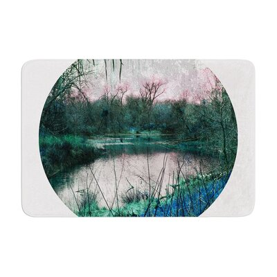 Micah Sager Swamp Lake Circle Memory Foam Bath Rug