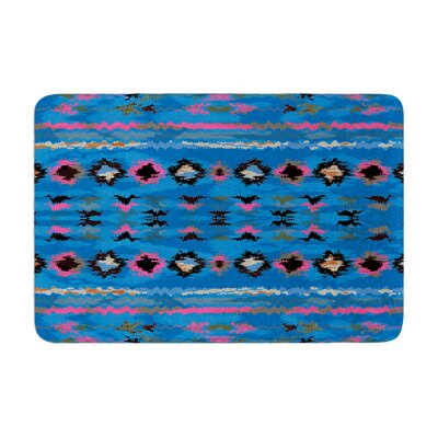 Nina May Navano Tribal Memory Foam Bath Rug Color: Blue