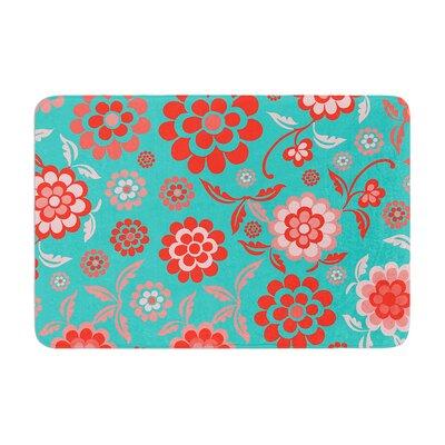 Nicole Ketchum Cherry Floral Sea Memory Foam Bath Rug