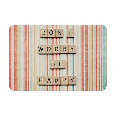 Nastasia Cook Dont Worry Be Happy Typography Memory Foam Bath Rug