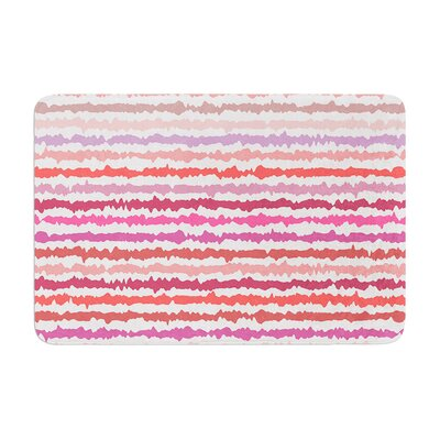 Nandita Singh Stripes Striped Memory Foam Bath Rug
